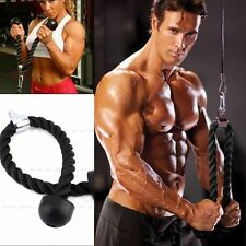 Arm Rope Tricep Multi Gym Cable Push up Pull Down Press Bar Attachment Fitness H