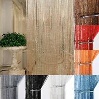 US String Door Curtains Beads Room Divider Window Panel Tassel Fringe Decoration
