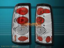 99-02 CHEVY SILVERADO TAIL LIGHTS CHROME 00 01 LAMP G2