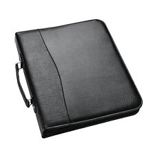 A4 Conference Folder With Handle Ringbinder Folio with Zipper Black - CL- 210