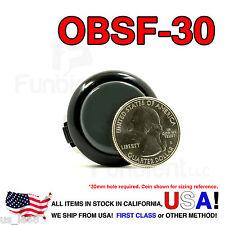 Sanwa Denshi Original OBSF-30 Gray Push Button JAMMA guitar kill switch 30mm