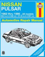 Nissan Pulsar N12 N12 1983-1986 Repair Manual