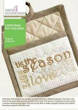 Anita Goodesign Christmas Pot Holders Embroidery Machine Design CD NEW