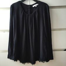SANDRO Blouse Noire dentelle black Lace Top New NEUVE