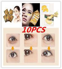 10PCS Gold Collagen Crystal Eye Reduce Mask Anti Aging wrinkle Dark Circle 2017