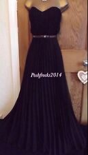 STUNNING ❤️ BNWT JANE NORMAN £65 Black Pleated Dress Sweetheart  Maxi Size 10 12