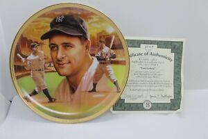 Lou Gehrig, New York Yankees, Bradford Exchange Plate, Baseball Record Breakers