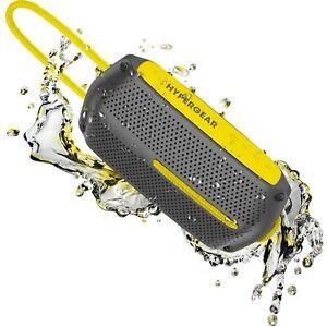 HyperGear Wave Water ResistantBluetooth Wireless Speaker - Grey/Yellow