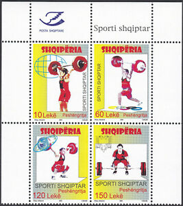 ALBANIA MNH 2009 - Olympic weightlifting Set Completo Michel nº 3294/97- Nuovo