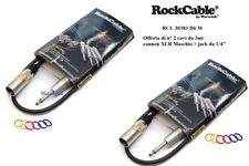 ROCKCABLE CAVO PER SPEAKER CASSE CANNON  XLR M -JACK OFFERTA di 2 CAVI DA 3 mt