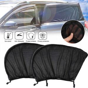 2x Car Window Protector Rear Sun Visor Universal Shield For Baby Shade Curtain
