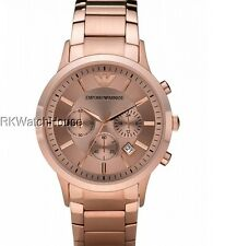 NEW EMPORIO ARMANI ROSE GOLD CHRONOGRAPH MENS WATCH AR2452