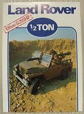 LAND ROVER ½ TON 106MM GUNSHIP Military Sales Spec Leaflet 1980 # LR/125/5-80/5M