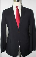 Hugo Boss Blue Solid Wool Two Button Side Vented Suit 41 Regular 36 31 Flat 41R