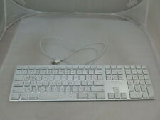 GENIUNE APPLE A1243 MB110LL/A WIRED USB KEYBOARD W/ NUMERIC PAD AND 2 USB PORTS