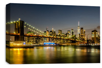New York Skyline Wall Art Brooklyn Bridge City Canvas Picture Print 30 x 20