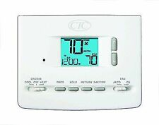 CTC 61152P Wall Thermostat, 1 Heat/1 Cool, 5/2 Day Programmable, 1.5 Square