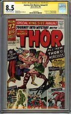 Journey Into Mystery Annual #1 CGC 8.5 SS STAN LEE Thor vs Hercules 1st app Zeus