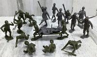 20 Piece Lot - Vintage Marx Toy Plastic Soldiers WW2 German & US Army Men