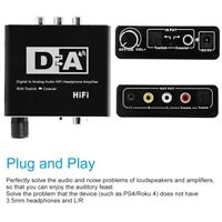 Digital To Analog Fiber Converter 5.1 Audio Decoder Sound Audio Adapter EU/US