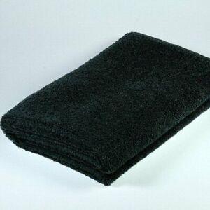 Microfaser Handtuch/Haartuch, 4 Stk. Vorteilspack [Schwarz] weich , 50 x 90 cm