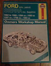 Ford Sierra Haynes Manual inc Sierra Sapphire - 1982 to 1988
