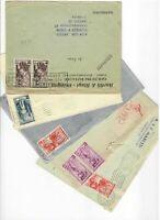 21065) ITALIA 1953/1956 Storia Postale lotto di 5 buste (vedi scans) It. Lavoro