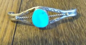 Mens Bolo Tie ~ Brass w/Turquoise Stone (Needs Cord)