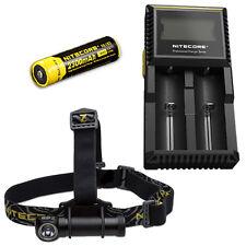 Nitecore HC30W XM-L2 LED Headlamp 1000Lm w/ D2 Charger & NL183 18650 Battery