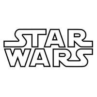Star Wars Logo Name Vinyl Sticker Decal Window Wall Art - WHITE or BLACK V02