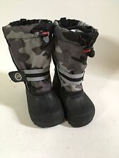 The Children's Place Brown Camo Thermolite Snow Boots w/ Removable Lining Size 8