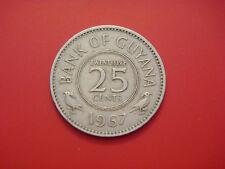 Guyana 25 Cents, 1967, Bird Animal