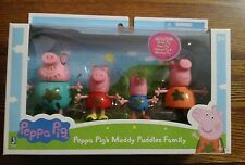Peppa Pig 92613 Muddy Puddles Family 4 Pack Toy Figure