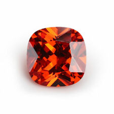 10X10mm AAAAA Orange Sapphire Square Cushion Faceted Cut 6.79ct VVS Loose Gem