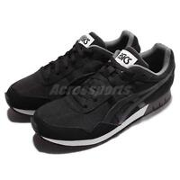Asics Tiger Curreo Black Grey White Men Running Casual Shoes Sneakers HN537-9090