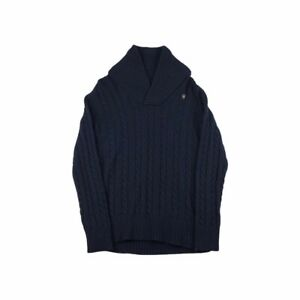G-Star Raw Denim Collection Line East Shawl Neck Cable Knit Jumper - Navy / UK L
