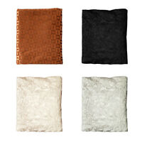 IDC Soft Embossed Throw Living Sofa Couch Blanket Rug 125x150cm