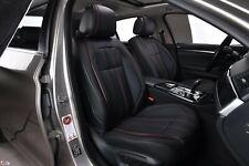 Pour Porsche Cuir Noir Flexible de Luxe avant Housses de Siège Auto