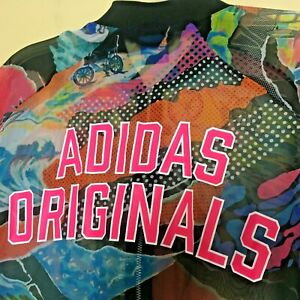 Adidas Originals Size Medium Sheer Chiffon Zip Bomber Track Jacket M