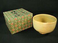 VINTAGE JAPANESE SIGNED CERAMIC HAND MADE TEA BOWL CHAWAN TEA CEREMONY