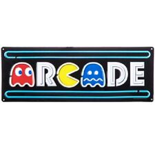 ARCADE Embossed Metal Sign -  Vintage Gaming Pac-Man Man Cave Home Wall Office