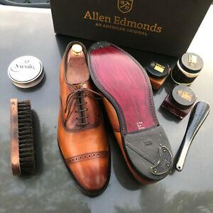 Allen Edmonds Fifth Avenue Walnut 12 D Cap-Toe Oxfords Custom features+more