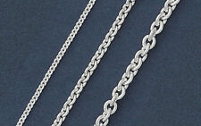 925 Solid Silver ROLO Chain Necklace/Bracelet-Italian Sterling Silver