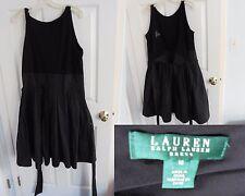 wrap cocktail dress size 16 Ralph Lauren Dress BLACK wrap around size 16