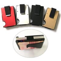 Metal Wallet Money Clip RFID Blocking Minimalist Credit Card Holder Simple
