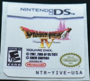 Gameboy DS Dragon Quest IV Chapters of The Chosen Replacement Label Sticker Nint