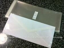 300 Pcs 4 5/16 x 9 3/4 Clear #10 Business Envelopes Cellophane Poly Bags