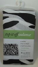 Ellery Top It Off Valance Zebra Animal Print Curtain Window Valance #11