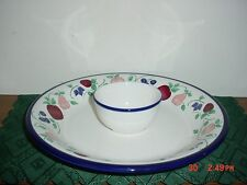 "2-PC PRINCESS HOUSE ""ORCHARD MEDLEY"" 14 1/8"" ROUND CHIP & DIP SET/CLEARANCE!"