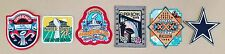 5 Awesome Official Dallas Cowboys Super Bowl Patches & 1 Embroidered Star